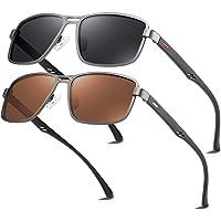 Bircen Mens Classic Square Sunglasses Driving Polarized Sunglasses for Men UV…