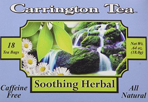 Carrington Tea, Soothing Herbal, 18 Tea Bags (Pack of 6) - Carrington Green Tea Tea