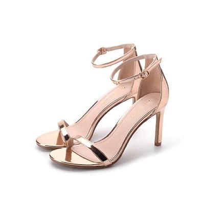 ZXCB Damen Sandalen High Heels Peep Toe Sexy Ausgeschnitten Kleid Party Court Schuhe