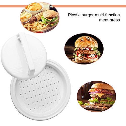 Bianco ClookYuan Strumento di Cottura Cucina Multifunzionale di Forma Rotonda per Uso Alimentare PP DIY Hamburger Strumento di Carne pressa di Carne Burger Maker Mold