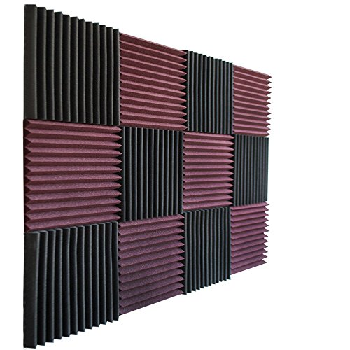 12-pack-burgundy-charcoal-acoustic-panels-studio-foam-wedges-1-x-12-x-12