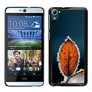 LECELL--Funda protectora / Cubierta / Piel For HTC Desire D826 -- Otoño Invierno Escarcha Leaf --