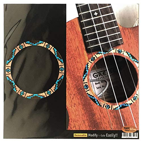 Native Mop (Unkulele Native American Pattern Purfling Inlay Sticker Decal (Natural) for SOPRANO)