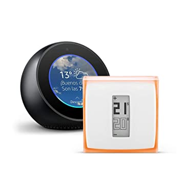 Amazon Echo Spot, negro + Netatmo Termostato Inteligente