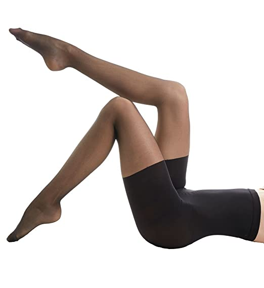 bd930ba98 Amazon.com  Spanx Assets High Waist Shaping Pantyhose - Black - 1 ...