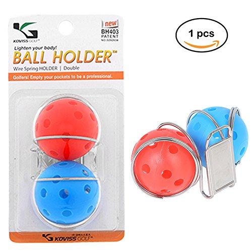 Golf Ball Belt - Deluxe Golf Ball Clip Holder for Belt (GOLD)