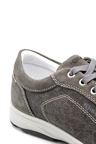 Gomma 1113911 Camoscio Tela Fondo e Scuro GRIGIO Sneakers Estate amp;CO Collezione Uomo in Grigio Primavera 2018 11139ASFALTO Nuova IGI UBA Colore tZwzf4