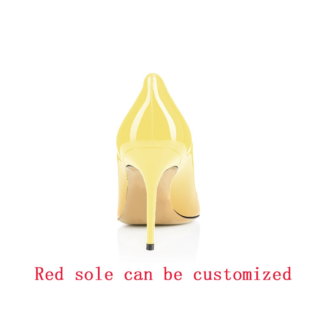 Modemoven Women's Yellow Pointed Toe Pumps Slip-on Office Business High Heels Sexy Stiletto Shoes 10 M US by Modemoven (Image #5)