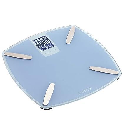 Cresta Báscula Cuarto de Baño 180 kg Azul Balanza Medidor Peso Masa Corporal