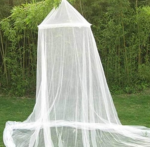 DmsBanga 2017 New Keeps Away Insects Flies Summer Camping Anti Mosquito Net for Bed Large Screen Netting Bed Canopy Circular Curtain Nursery Guard Carry Bag Playgrounds Hanging kit Home Travel Outdoor