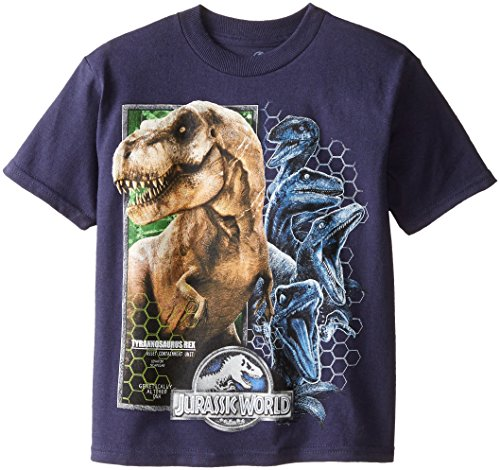 Price comparison product image Jurassic World Little Boys' Short Sleeve T-Shirt Shirt,  Navy,  5 / 6