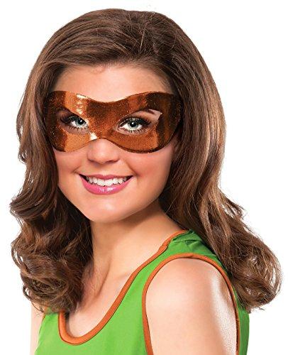 Rubie's Costume Co Women's Teenage Mutant Ninja Turtles Classic Michelangelo Eye Mask, Orange, One (Tmnt Masks)