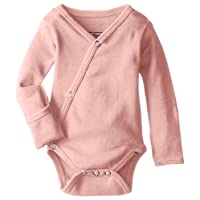 L'ovedbaby Unisex-Baby Organic Cotton Kimono Long Sleeve Bodysuit, Coral, 0/3...