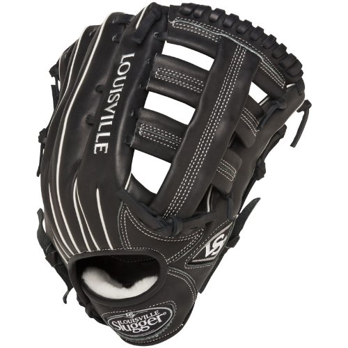 (Louisville Slugger 12.75-Inch FG Pro Flare Baseball Outfielders Gloves, Black, Right Hand Throw)