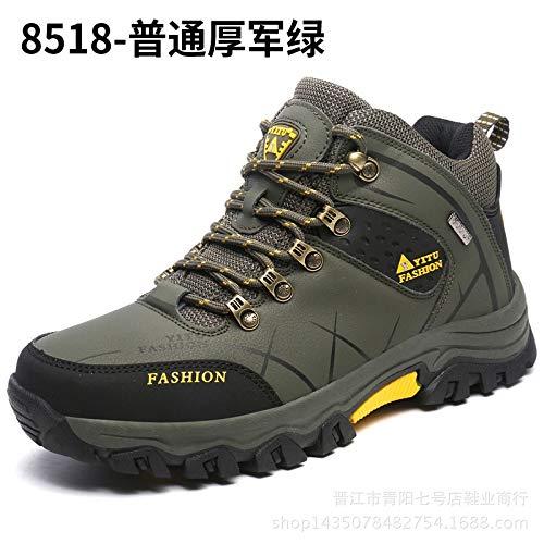 B QLJ01 Chaussures de randonnée pour Hommes de Sport de Plein air Escalade Chaussures de randonnée de Ski de Fond pour Hommes Chasse Chaussures de Trekking Baskets Bottines 319g