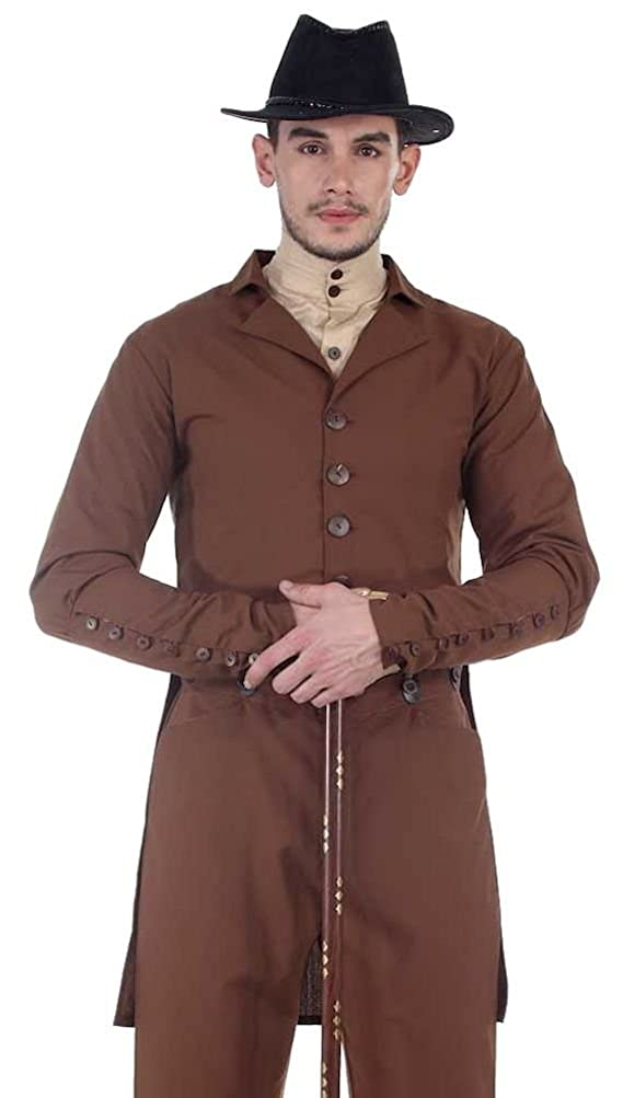 Amazon.com: Steampunk Sovereign Tailcoat - Chocolate Brown - Sizes Small-XXX-Large:  Clothing