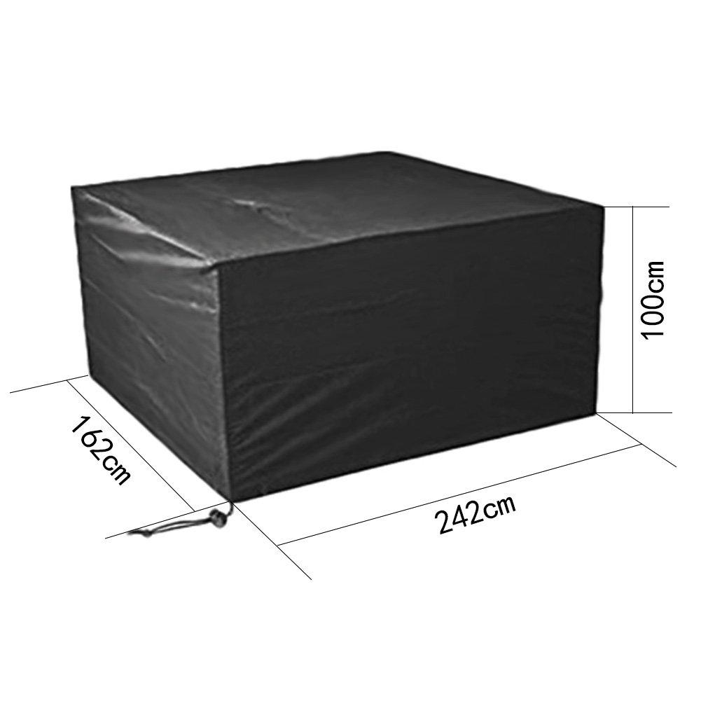 SIRUITON Copertura Mobilia Giardino Impermeabile Coperture per Tavoli da Esterno Poliestere Oxford Coperture Arredo 120 /× 120 /× 74CM Nero