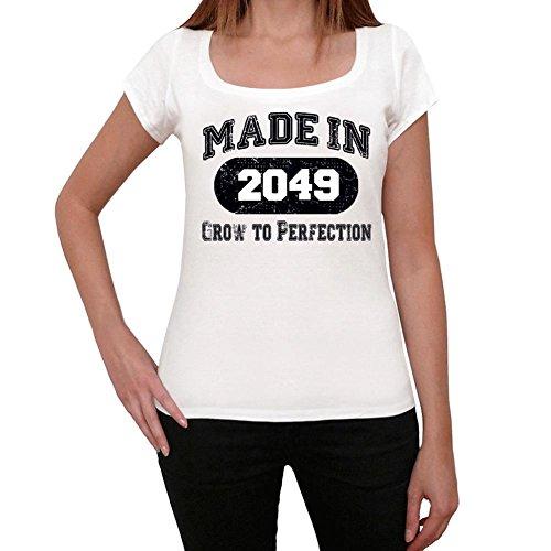 2049, camisetas mujer cumpleaños, regalo mujer, camiseta regalo blanco
