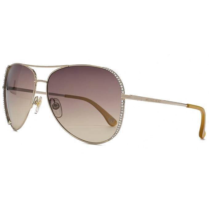 ea6dfd873e32 Michael Kors Sadie Diamante Detail Aviator Sunglasses in Gold M2062S 717  60: Amazon.ca: Clothing & Accessories