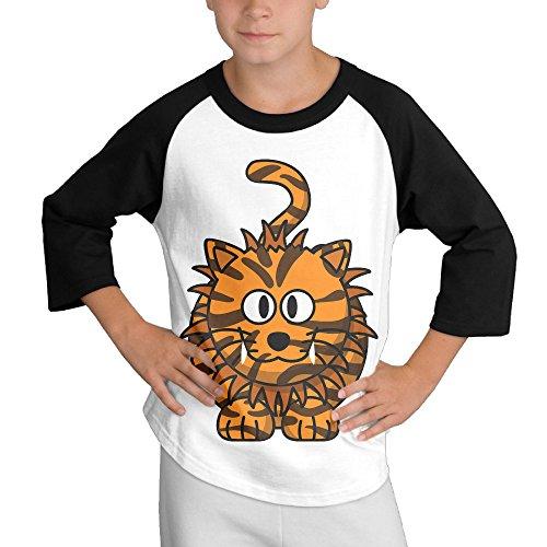 Price comparison product image LKK Young Boy Weird Tiger 3 / 4 Sleeve Raglan Tshirt Black L