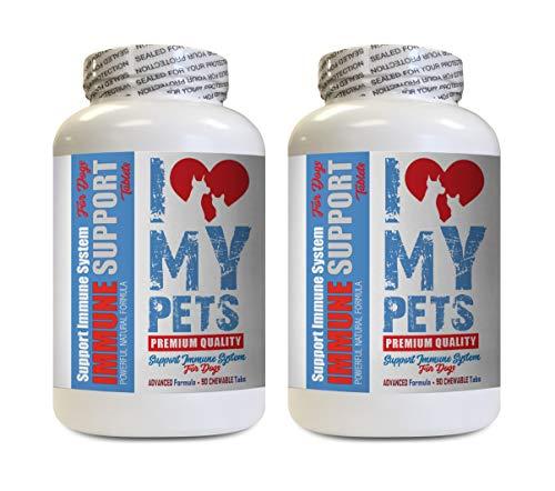 I LOVE MY PETS LLC Dog Immune System - Dog Immune Support - Booster - Healthy PET - Supplement - Dog Allergies Pills - 180 Treats (2 Bottles)