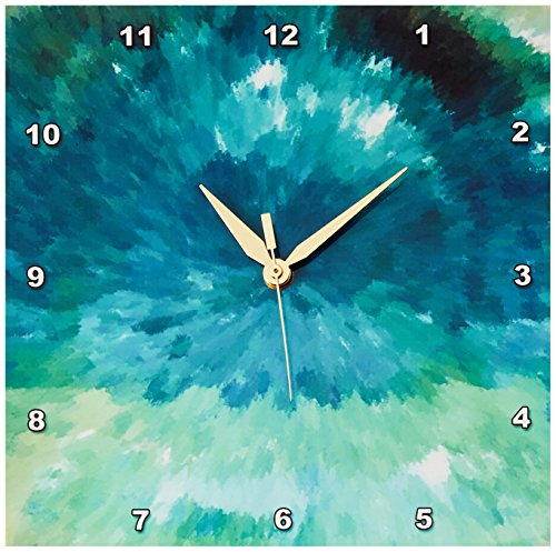 3dRose LLC dpp_17748_1 Ocean Breeze Wall Clock, 10 by 10-Inch