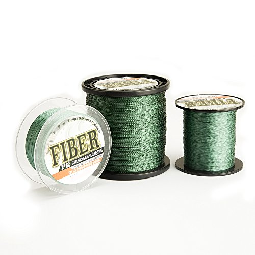 Robson braided fishing line Ultra strong Abrasion Resistant Braided Lines Zero Stretch Olive green