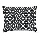 Roostery Trend Black and White Southwest Native American Chevron Cross Euro Knife Edge Pillow Sham Southwest Diamond Chevron by Fable Design 100% Cotton Sateen
