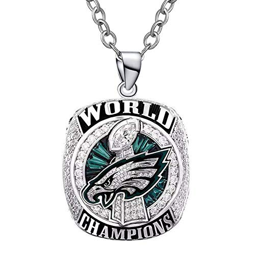 Wobera Sports Fan Necklaces & Pendants Custom 2017-2018 Philadelphia Eagles Super Bowl World Championship Necklaces Pendants Fans ()