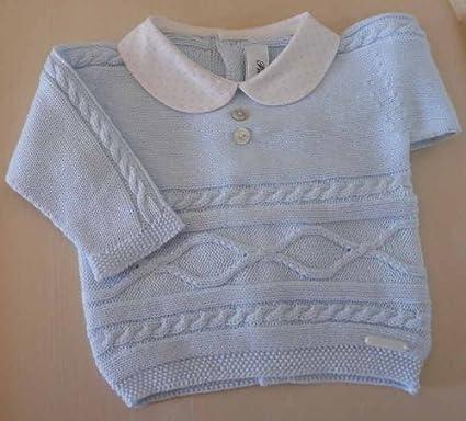 Pili Carrera - conjunto jersey y polaina, celeste: Amazon.es: Bebé