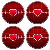 Liili Round Coasters Abstract heart beats cardiogram 29534721