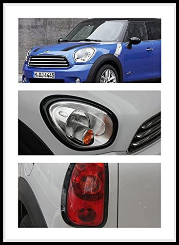 Headlight Frame Trim Cover Cap ABS for Mini Cooper ONE//S//JCW Clubman Countryman Hardtop Hatchback Coupe Roadster F55 Hardtop F56 Hatchback 2014+, Black Taillight Rear Light