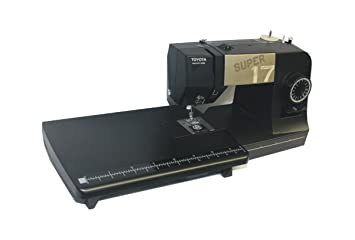 Toyota Super Jeans Máquina de coser Super J17 XL PE con grandes Zona de trabajo: Amazon.es: Hogar
