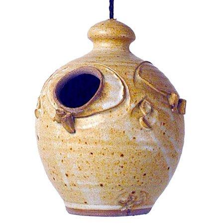Stoneware Nesting Jar Hanging Birdhouse / Color = -