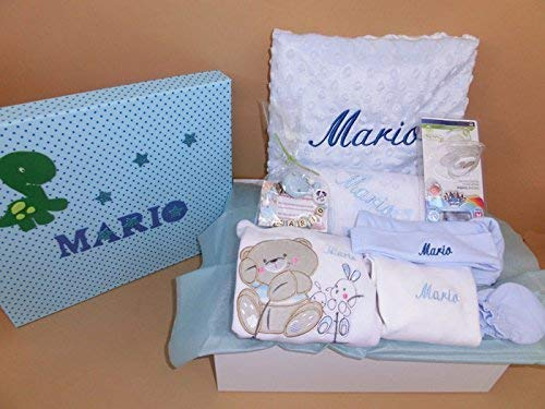 Set Regalo Bebé – Canastilla personalizada hospital para niña o niño, el regalo perfecto para