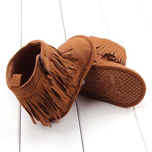 Clode® Kleinkind Baby Mädchen Schuhe Weiche Quaste Schuhe Lässige Schuhe Hoch Stiefel(Brown)