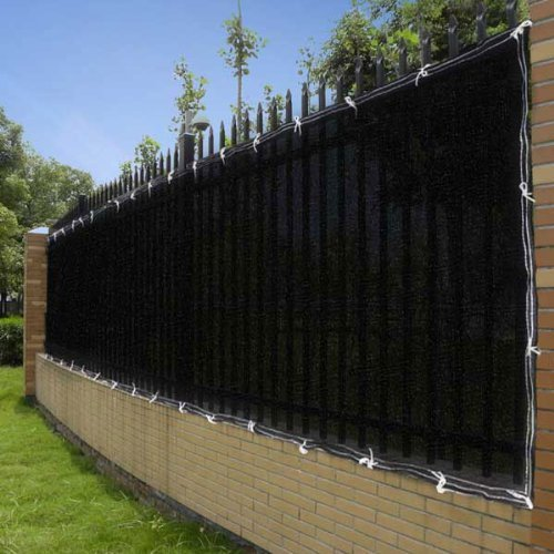 4'x50' Black Fence Screen 90% Privacy Fencing Mesh by AV Prime Inc.
