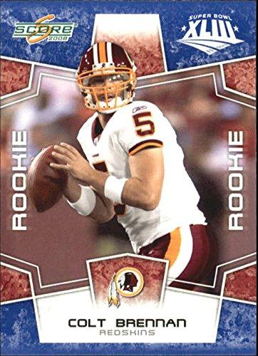 2008 Score Football (2008 Score Super Bowl XLIII Blue #418 Colt Brennan - Football Card)