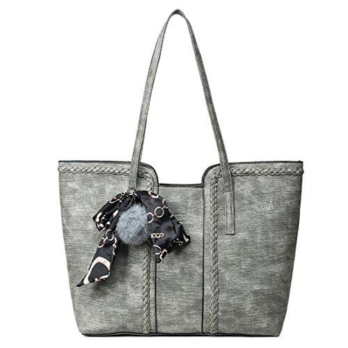 UNYU Tote Bag, Vintage Handbag - Bolso de asas para mujer gris