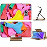 Liili Premium Samsung Galaxy Note 5 Flip Pu Leather Wallet Case Colorful Heart Shape Balloons Note5 IMAGE ID 12135403