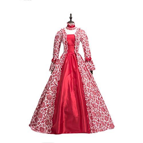 CountryWomen Renaissance Gothic Dark Queen Dress Ball Gown Steampunk Vampire Halloween Costume (M, Image-color1) ()