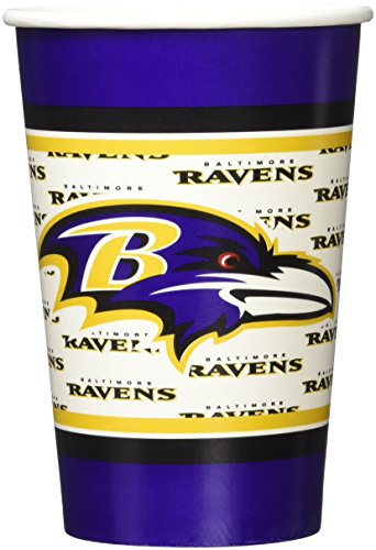 NFL Baltimore Ravens Disposable Paper Cups (20-Pack)