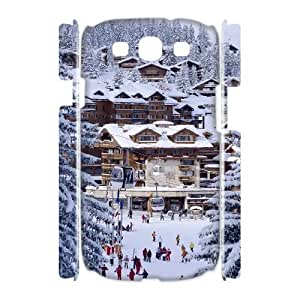 3D Samsung Galaxy S3 Cases, Winter Holiday in the Swiss Alps Hardshell Cases for Samsung Galaxy S3 {White}