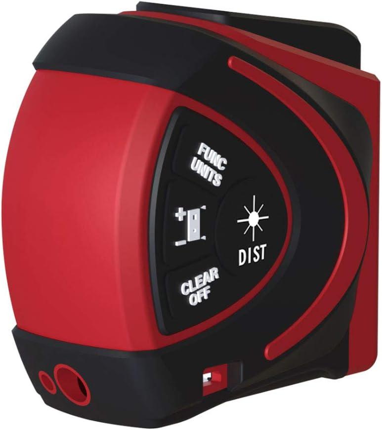 HYCy Telémetro láser Digital de Mano buscador de Rango infrarrojo 2 en 1 5m Cinta métrica 30m medidor de Distancia láser con Pantalla LCD