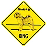 Shar-Pei Xing caution Crossing Sign dog Gift