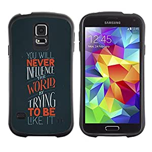 Suave TPU GEL Carcasa Funda Silicona Blando Estuche Caso de protección (para) Samsung Galaxy S5 / CECELL Phone case / / World Uniqueness Influence Quote Motivation /