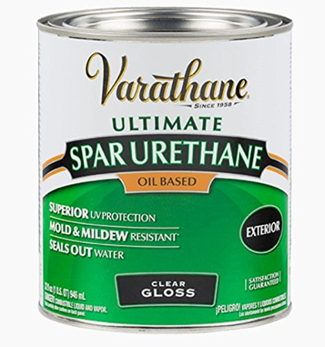 Rust-Oleum 9241H Classic Clear Oil Based Outdoor Spar Urethane, 1-Quart, Gloss Finish