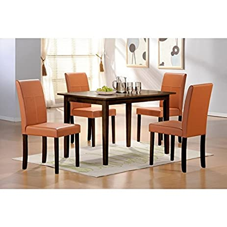 Ordinaire Warehouse Of Tiffany 5 Piece Toffee Dining Furniture Set