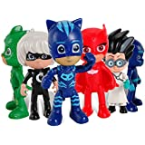 Action Figure Toy - 6 pcs Pj Masks Characters - 6 pcs Pj Masks Characters Catboy Owlette Gekko Cloak Action Figure Kid Toys - Perfect Birthday Gifts - Toy Doll for Baby, Kids and Toddler