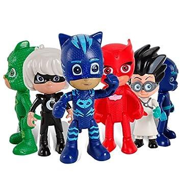 New 6 Pcs/set PJ Masks Boy Figures Popular Cartoon Toys for Kids - Nuevas